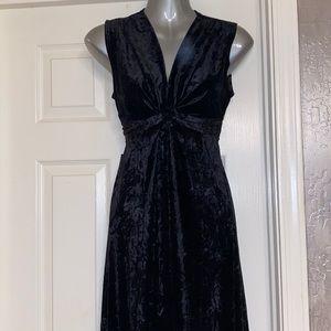 Bebe black velvet maxi dress costume  small
